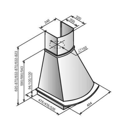 Вытяжка купольная ELIKOR Ротонда 50 Beige/Brown