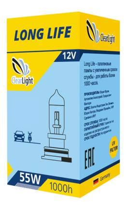 Лампа галогенная автомобильная Clearlight 55W LongLife (MLH11LL)
