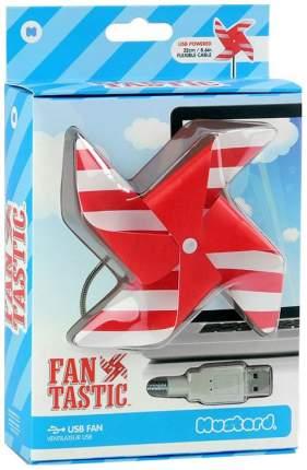 Вентилятор настольный Mustard USB Fantastic white/red