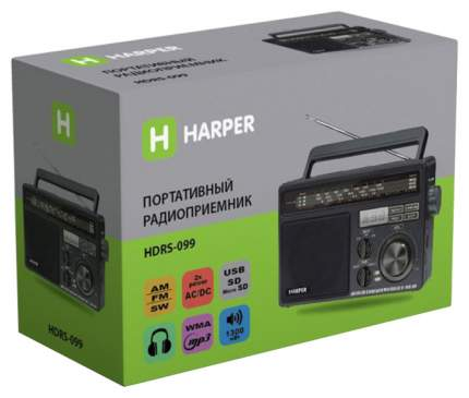 Радиоприемник Harper HDRS-099 Black