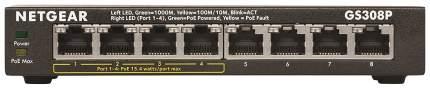 Коммутатор NetGear GS308P-100PES Черный