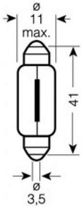 Лампа накаливания автомобильная OSRAM 12V C5W (6413)