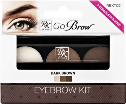 Набор для моделирования бровей KISS Go Brow, Dark Brown