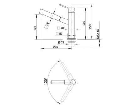 Смеситель для кухонной мойки Blanco QUADRIS-S 514606 хром