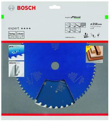 Диск по дереву Bosch EXP WO 216x30-40T 2608644079