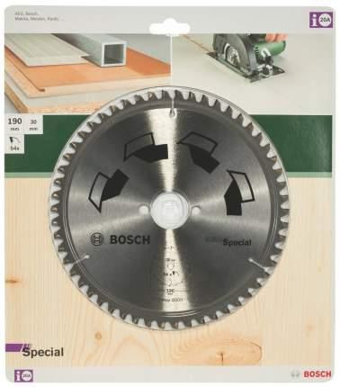 Диск по дереву Bosch 190x30 54 SPECIAL 2609256892