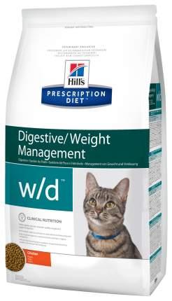 Сухой корм для кошек Hill's Prescription Diet Digestive/Weight Management, курица, 1,5кг