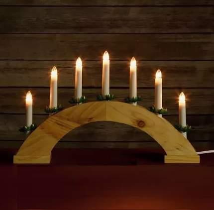 "Snowhouse Светильник-горка ""Кантри"", 40*29 см, 7 теплых белых LED ламп BIE1507"