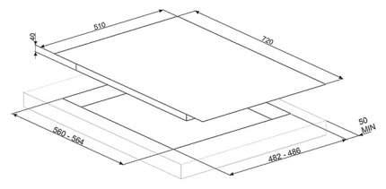 Встраиваемая варочная панель газовая Smeg PV175S Grey