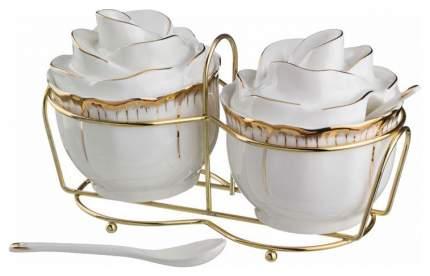 Набор сахарниц Lefard 590-028 Белый, золотистый