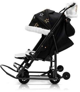 Санки-коляска Pikate Limited Edition черный