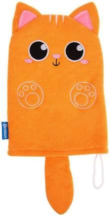 Набор для купания «Котик», 2 предмета: мочалка + игрушка Крошка Я