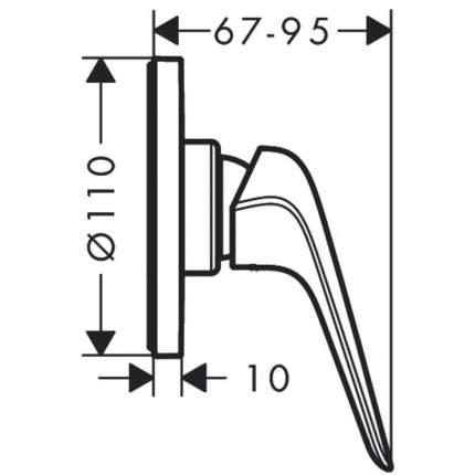 Смеситель для встраиваемой системы Hansgrohe 71063000
