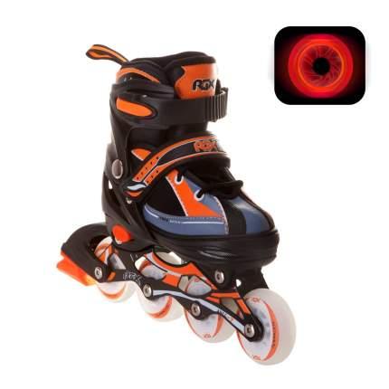 Раздвижные роликовые коньки RGX Fantom Orange LED подсветка колес M 34-37
