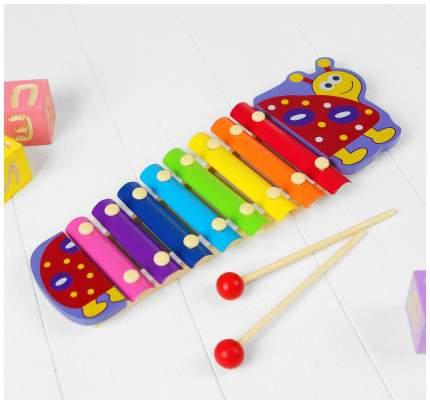 """Музыкальная игрушка """"Металлофон. Рыбка"""", 8 тонов Sima-Land"""