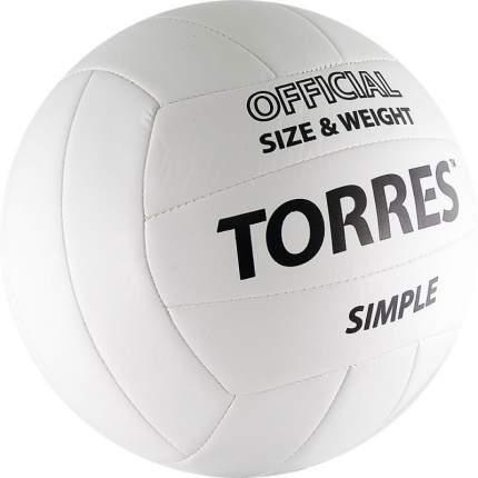 Волейбольный мяч Torres Simple V30105 №5 white