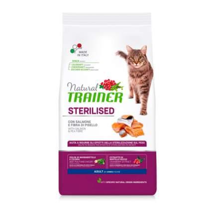 Сухой корм для кошек TRAINER Natural Adult Sterilised, для стерилизованных, лосось, 1,5кг