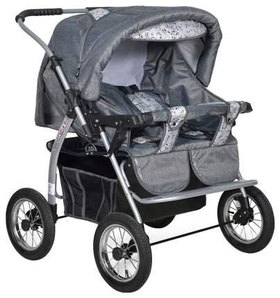 Коляска для двойни Indigo Santa Cruz PC УТ0010228 цвет светло-серый