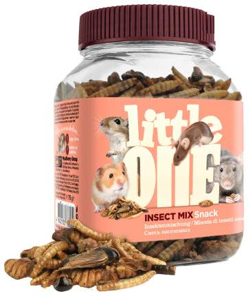 Лакомство для крыс, мышей, песчанок, хомяков Little One улучшение пищеварения, 75г