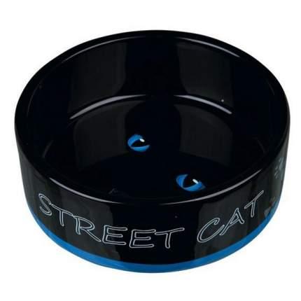 Миска Trixie Street Cat для кошек керамическая 0,3 л/ф12 см