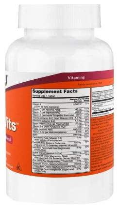 Витаминный комплекс NOW Daily Vits 250 табл. без вкуса