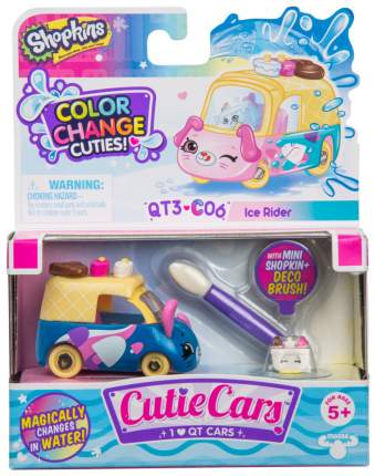 Машинка пластиковая Cutie Cars 57130/ast57107 Ice Rider меняющая цвет с кисточкой