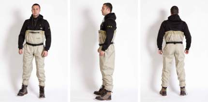 Вейдерсы Norfin Whitewater, светло-серые, L INT, 43 RU