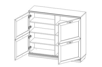 Платяной шкаф Hoff Кредо 80332833 120,1x36,9x106,3, валенсия