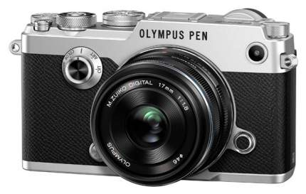 Фотоаппарат системный Olympus PEN-F Silver + 17mm Black Kit