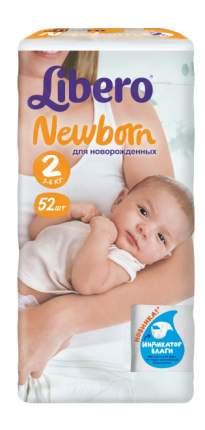 Подгузники для новорожденных Libero Newborn 2 (3-6 кг), 52 шт.