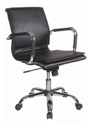 Кресло руководителя Бюрократ CH-993-LOW/BLACK, черный/хром