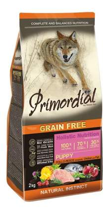 Сухой корм для щенков Primordial Grain Free Puppy, курица, рыба, 2кг