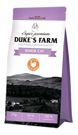 Сухой корм для кошек DUKE'S FARM Senior Cat, для пожилых, индейка, 2кг