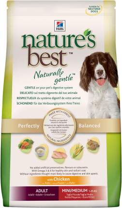 Сухой корм для собак Hill's Nature's Best Adult Mini/Medium, курица, 12кг