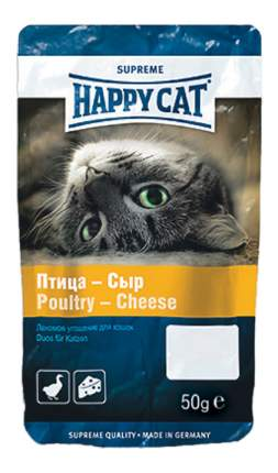 Лакомство для взрослых кошек Happy Cat Угощение Птица & Сыр всех пород, 50г