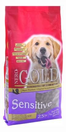 Сухой корм для собак NERO GOLD Adult Sensitive, все породы, индейка и рис, 2,5кг