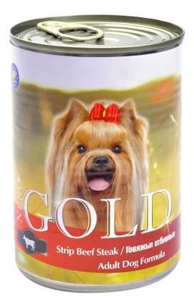 Консервы для собак NERO GOLD Adult Dog Formula, говяжьи отбивные, 12шт, 1250г