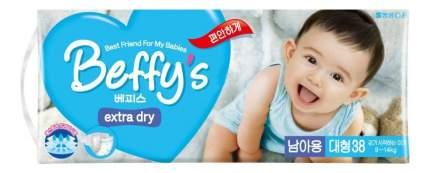 Подгузники Beffy's Extra Dry для мальчиков L (9-14 кг), 38 шт.