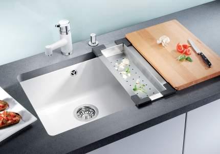 Мойка для кухни керамическая Blanco SUBLINE 500-U 519596 глянцевый магнолия