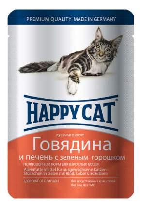 Влажный корм для кошек Happy Cat, говядина, печень, 100г