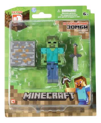 Фигурка персонажа 1TOY Minecraft Зомби