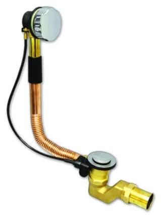 Слив-перелив медно-латунный полуавтомат, регулируемый перелив L450-700 мм, хром,