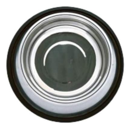 Одинарная миска для кошек и собак Papillon, сталь, серебристый, 0.9 л