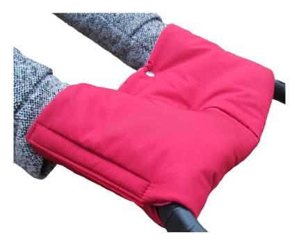 Муфта для рук мамы на детскую коляску Чудо-Чадо Флисовая (на липучке) вишневый