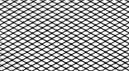 Защитная сетка радиатора 1000 х 400 R10 Alu черная. (1 шт.)