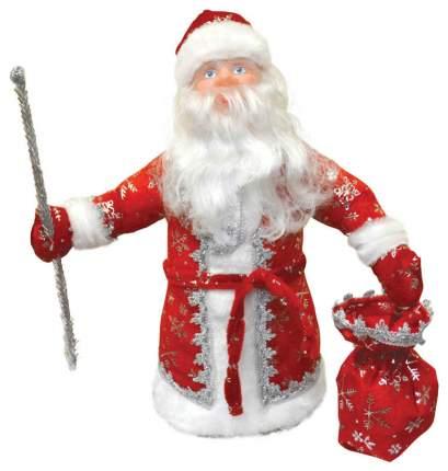 Кукла декоративная Яркий праздник Дед Мороз Красный 40 см