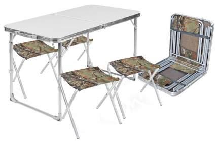 Набор: стол складной + 4 стула дачных складных НИКА, ССТ-К2 металл