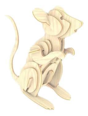 Модели для сборки Мир Деревянных Игрушек Мышь