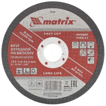 Диск отрезной абразивный MATRIX 125 х 1,6 х 22 мм 74335
