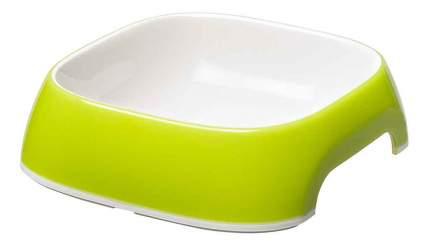 Одинарная миска для кошек и собак Ferplast, пластик, резина, зеленый, 0.2 л